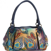 ANNA by Anuschka Hand Painted Ruched Large Satchel