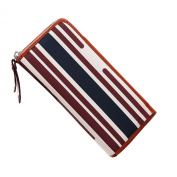 Only Faith Europe Fashion Stripe Zipper Women Wallet