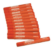 Dixon 52012 Lumber Marking Crayons, Soft Red, 11cm x 1.3cm Hex, Pack of 12