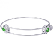 Rembrandt 'Insightful' Expandable Bangle - May, Sterling Silver