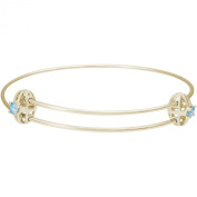 Rembrandt 'Graceful' Expandable Bangle - December, 14K Yellow Gold
