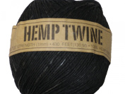 Hemp Twine Black 20# 1mm 430Ft 130m