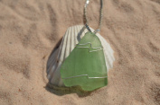 Light Green Beach Glass Necklace