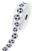 LUV RIBBONS GSO0708-SOC Grosgrain 2.2cm Sports Ribbon, 10-Yard, Soccer