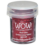 Wow Embossing Powder WOW! Embossing Powder, 15ml, Red Glitz