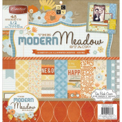 Diecuts With A View Paper Stack, 30cm by 30cm , Modern Meadow, 48-Pack