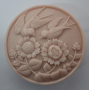 1pcs Magpies & Sunflower Z954 Craft Art Silicone Soap Mould Craft Moulds DIY Handmade Soap Moulds