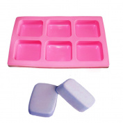 X-Haibei Geometric Basic Plain Rectangle Rounded Corners Soap Mould Silicone