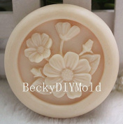 Creativemoldstore 1pcs 6.8x6.8x2.0cm Flower (zx10) Craft Art Silicone Soap Mould Craft Moulds DIY Handmade Soap Mould