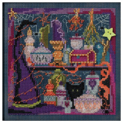 Wanda's Witchery Beaded Counted Cross Stitch Kit MH144206 Mill Hill Buttons & Beads 2014 Autumn