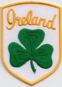Ireland Shamrock Shield Embroidered Badge