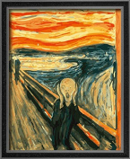 DIY PBN-paint by numbers famous painting The Scream by Edvard Munch 41cm by 50cm Frameless.