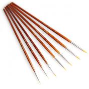Fine Detail Paint Brush Set - 7 Pieces Miniature Brushes for Watercolour/Acrylic Painting