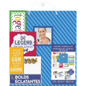 K & Company Pocket Journal and Scrapbook Kit, 22cm by 28cm , Blue