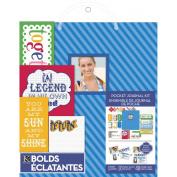 K & Company Pocket Journal and Scrapbook Kit, 22cm by 28cm , Blue