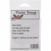 Riley & Company Funny Bones Cling Mounted Stamp 8.3cm x 4.4cm -Dear Santa