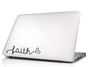 Faith heart Laptop Decal Vinyl macbook skin sticker saying lettering religious art Die-cut