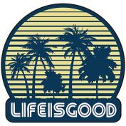 Life is good. Die Cut Sticker