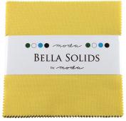 Bella Solids 30's Yellow Charm Pack 42 Squares 13cm Moda Fabrics 9900PP 23S