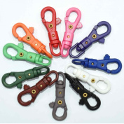 11pcs Colourful Plastic Swivel Snap Hook for Weave Paracord Lanyard Buckles