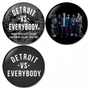 Eminem, Royce da 1.5m, Big Sean, Danny Brown, Dej Loaf, Trick Trick : Detroit Vs. Everybody Pinback Buttons Badges/Pin 1.25 Inch (32mm) Set of 3 New