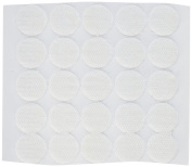 BlueDot Trading,Hook & Loop Fastener Dots Coins Adhesive Backed, 1.9cm , Quantity 100, White