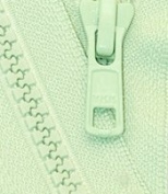 70cm Vislon Zipper ~ YKK #5 Moulded Plastic Sport Zipper ~ Separating - 532 Nile Green