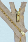 60cm Medium Weight Jacket Zipper YKK #5 Brass ~ Separating ~ 573 Beige