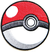 Pokeball Pokemon Cartoon Game Logo Girl Kid Baby Jacket T shirt Patch Sew Iron on Embroidered Symbol Badge Cloth Sign Costume By Prinya Shop