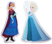 Anna & Elsa Sister Pair Frozen Movie Disney Princesses Iron On Applique Patch