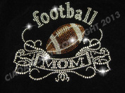 Classic Football Mom Rhinestone Iron on Hotfix Transfer football mom bling - 23cm By 15cm
