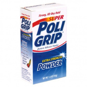 PoliGrip Super Denture Adhesive Powder, Extra Strength 45ml Container
