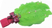 Lovely Girls Baby Headbands,Feather,Green