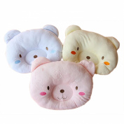 KSB Cute Bear Cotton & Velvet Soft Anti Roll Baby Head Positioner Pillow, Prevent Flat Head Pillow for 3 Months~1 Year