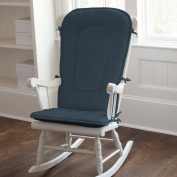 Solid Navy Rocking Chair Pad