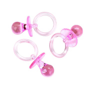 Adorox 6.4cm Pink & Blue Acrylic Baby Pacifier Shower Favour (36 Pieces (Pink