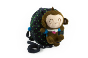 Baby Rae Toddler Kid Walking Safety Leash Backpack with Detachable Cute Monkey Stuff Animal