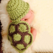 KAKA(TM) Lovely Newborn Crochet Knitted Baby Costume Baby Photo Photography Prop Clothes-Green Tortoise Costume