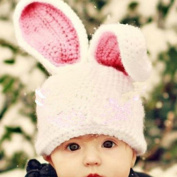 KAKA(TM) Lovely Newborn Crochet Knitted Baby Costume Baby Photo Photography Prop Clothes-Rabbit Ears Hat