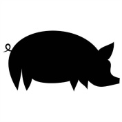 Repositionable Pig Chalkboard Wall Sticker - Large (576 x 300 mm) Decal