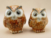 3 D Ceramic Toy Brown Owl Dollhouse Miniatures Free Ship