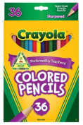 Crayola : Long Barrel Coloured Woodcase Pencils, 3.3 mm, 36 Assorted Colours/set -:- Sold as 2 Packs of - 36 - / - Total of 72 Each