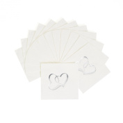 Two Hearts Cocktail Napkins