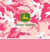 Creative Converting 725526 Border Print Plastic Table Cover, 140cm by 270cm , John Deere Pink