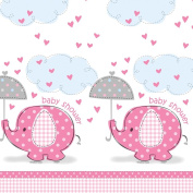 Pink Elephant Baby Shower Tablecover