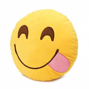 Round Oi Emoji Smiley Emoticon Cushion Pillow Stuffed Plush Toy Doll Yellow(glutton+free Yiwa Gifts) Model: