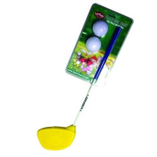 Le Petit Sports - Golf Club with Oversize Foam Head - Ages 2 & 3 for Left & Right Handers with Balls & Flag (Easy & Safe Play) Colour