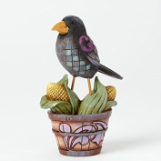 Jim Shore for Enesco Heartwood Creek Mini Crow on Basket Figurine, 9.2cm