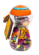 B. Pop-Arty Snap-Together Jewellery Fashion Kit. Fun to Make and Wear. Comes with Idea Booklet, 300 Multicoloured Pieces, and Quirky Storage Jar. For Ages 4 - 10 Years