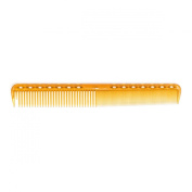 YS Park Comb 339 Professional Fine Cutting Hair Comb Camel Yellow